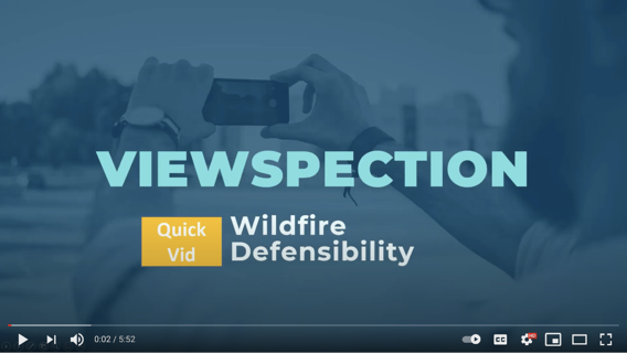 Screenshot of the Wildfire Defensibility 2 YouTube video on a desktop